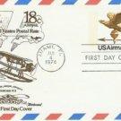 Usps 18 cent Airmail fdi Postcard: Miami Florida 1/4/74 Mint