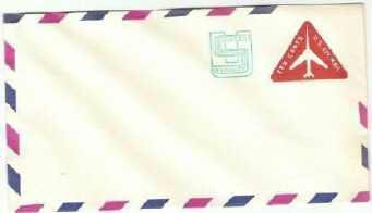 Usps 10 cent Postage Revalued Air Mail Stamped Envelope