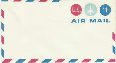 Usps 11 cent Air Mail Pre Stamped Envelope ~ Inused vgc Several Available