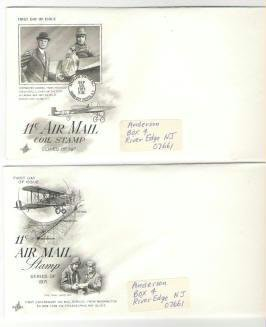 Two Usps Government Air Mail Envelopes 1971 Series fdi Coil Stamp