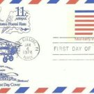 Usps 11 cent Airmail Official 1st Day Cover fdi January 1974