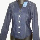 NWT: To the Max Denim Long Sleeve Top or Jacket w/ Lycra Ladies Size Small