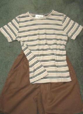 Denim and Co Shorts plus Susan Graver Top Outfit Ladies Sz Small Gr8 Cond
