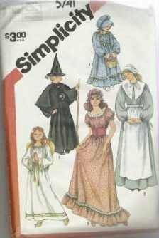 Uncut Simplicity Pattern Number 5741 Misses Girls Costumes Sz Medium