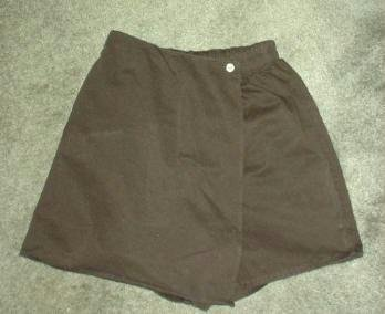 New Denim and Co Black Denim Twill Skort ~ Ladies Size Small