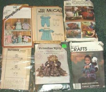 Lot of 6 Craft Patterns McCalls Simplicity Primrose Butterick