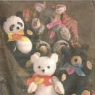 Uncut Simplicity Crafts Pattern No 8537 Four Chic Bears by Van Zanten