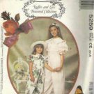 Uncut McCalls Pattern Girls Jumpsuit with 22 inch Doll Clothes No. 5259