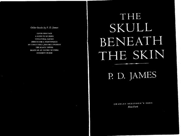 The Skull Beneath the Skin P D James Hardcover 0684177730