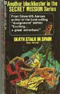 Death Stalk in Spain by Don Smith Pull Out Cigarette Ad Included 1974 Paperback