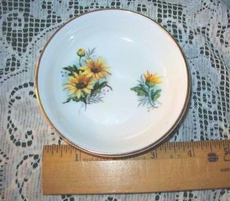Rosina English Bone China Vintage Bowl-Trinket Dish Featuring Black Eyed Susans