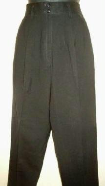 Michelle Stuart Ladies Crisp Black Career Pants ~ Sz 8 ~ As New