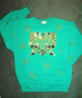 Ladies Green Sweatshirt with Bling Designed by Eminent Size Medium ~ Eagle Motif