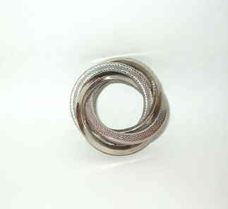 Circle of Love Life Silver Tone Pin Brooch Vintage Estate Find - Exc Cond