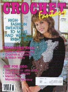 Crochet Fantasy 12/1986 Doll Canopy, Mervyn Monkey, Curtains, Afghan, Plus