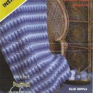 Afghan Crochet Pattern and Instruction 48 in x 60 in by Phentex