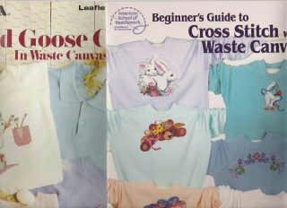 2 Waste Canvas Books Leisure Arts / Am School Directions Dozens of Patterns