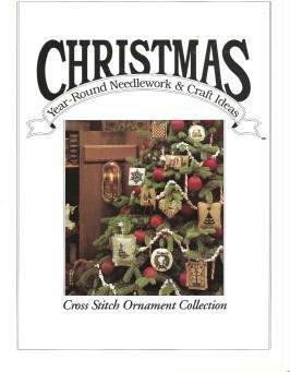Christmas Year Round Craft Ideas Magazine 1990 Oxmoor House: Cross Stitch Ornaments