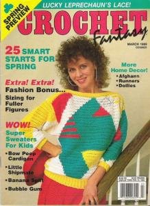 Crochet Fantasy Magazine Fashions Afghans Runners Doilies Crochet patterns Fuller Figures March 1989