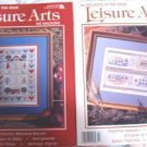 2 Leisure Arts Mags 1990 - Afghan, Cross Stitch, Crafts, Baby Ideas, Welcome Banner 55 Projects