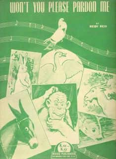 Wont You Please Pardon Me 1946 Sheet Music by Reidy Reid Lively Music