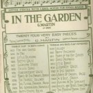 In the Garden Music by G Martin 1919 Easy Sheet Music for Children
