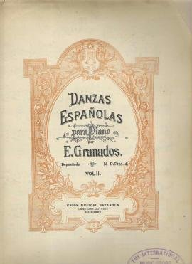 Danzas Espanolas Piano Sheet Music Granados Antique