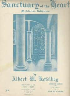 Sanctuary of the Heart 1924 Sheet Music by Ketelbey Arranged by Schaum