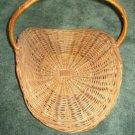 Fireplace / Magazine / Sewing Wicker Basket Large, Older, Handle