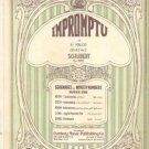 Impromptu by Franz Schubert 1924 Sheet Music In Nice Condition