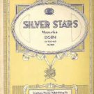Silver Stars Mazurka by Carl Bohm Vintage Sheet Music Number 388
