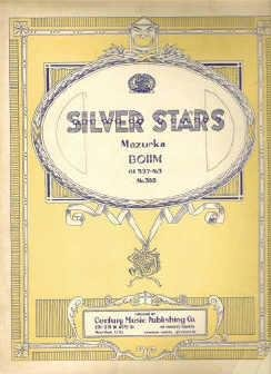 Silver Stars Mazurka by Carl Bohm Vintage Sheet Music Number 388