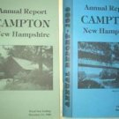 Two Campton New Hampshire Financial Annual Reports For 1988 and 1989