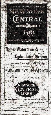 N Y Central Railroad - Hudson River to N N Y Points Timetable 1906