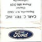 Ford Tractors Equipment Advertisement Matchbook