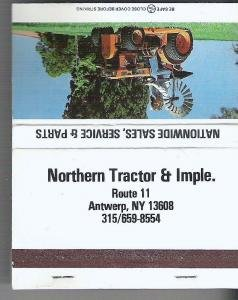 Matchbook Northern Tractor Imple Antwerp NY Kubota 40 Strikes Cover