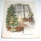 Vintage ~ Greeting at Christmas ~ Card by Grinnell