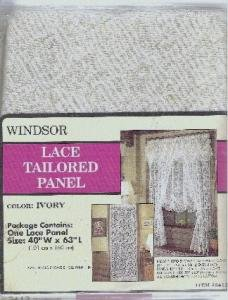 Lace Tailored Curtain Panel - NIP - 40 x 63 inches Designed by Windsor