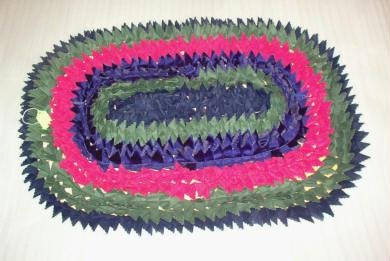 New: Amish Crafted Mat - Throw Rug Handmade 21 x 31 Inches