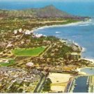 1960s Aerial view of Waikiki Area Vintage Postcard Diamond Head Unused