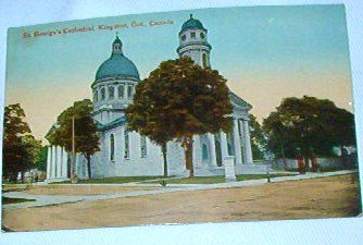 1919 Antique Postcard St Georges Cathedral Color Kingston Ontario Canada