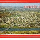 Aerial View of Endicott, New York Postcard Unused
