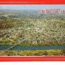 Aerial View of Endicott, New York Postcard Unused