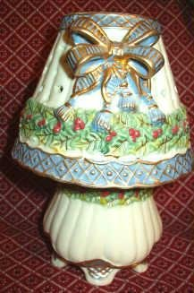Ceramic Lamp Votive Candle Holder ~ Victorian Styling ~ As New