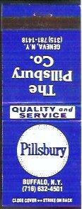 The Pillsbury Co Matchbook Buffalo / Geneva NY Unused