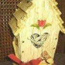 Brand New Birdhouse with Tulip and Cardinal Decoration -