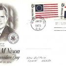 Richard Nixon 1973 fdc Inauguration Day Jan 2-6 c Special Flag Stamps