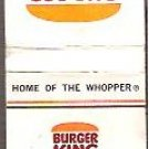 Burger King Unused Matchbook Cover