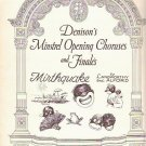 Denisons Minstrel 1928 Sheet Music Choruses for Mirthquake