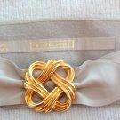 Jennifer Moore Genuine Leather Belt Gold Tone Buckle Size Large